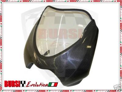 SU ORDINAZIONE .Cupolino in carbonio con plexiglass per Ducati Monster