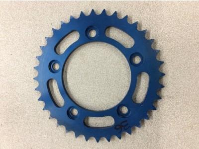 Corona in ergal anodizzata blu z36 passo 525